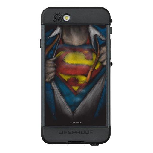 Superman   Chest Reveal Sketch Colorized LifeProof NÜÜD iPhone 6s Case