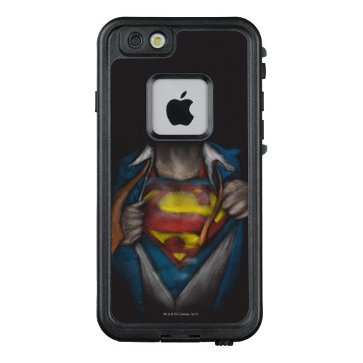Superman   Chest Reveal Sketch Colorized LifeProof FRĒ iPhone 6/6s Case