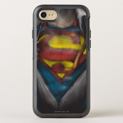 Superman | Chest Reveal Sketch Colorized OtterBox Symmetry iPhone SE/8/7 Case