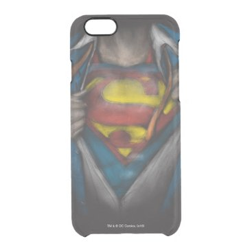 Superman | Chest Reveal Sketch Colorized Clear iPhone 6/6S Case