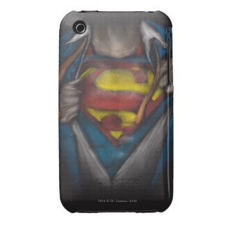 Superman Chest Sketch 2 Case-Mate iPhone 3 Cases