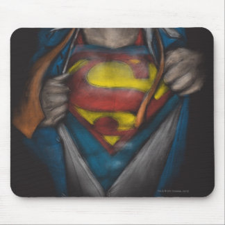 Superman Chest Sketch 2 Mouse Pad