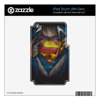 Superman Chest Sketch 2 Skins For iPod Touch 4G