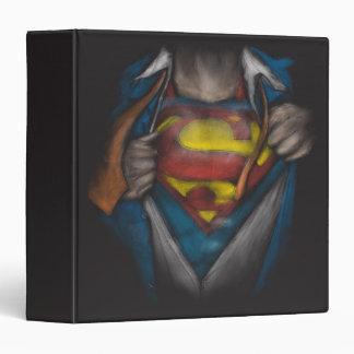 Superman Chest Sketch 3 Ring Binder