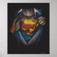 Superman Chest Sketch Print