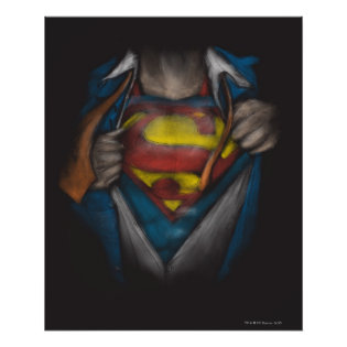 Superman Chest Sketch Print