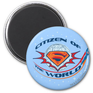 Superman Citizen of the World 2 Inch Round Magnet