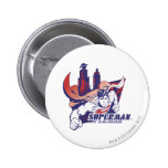 Superman City and Name 2 Inch Round Button