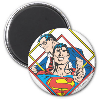 Superman/Clark Kent 2 Inch Round Magnet