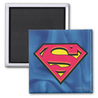 Superman Classic Logo 2 Inch Square Magnet