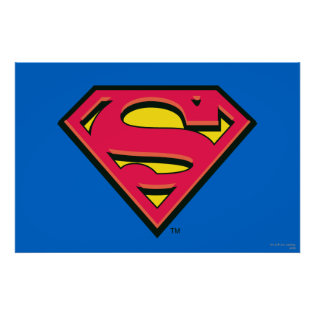 Superman Classic Logo Print
