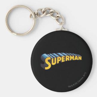 Superman | Classic Name Logo Keychain