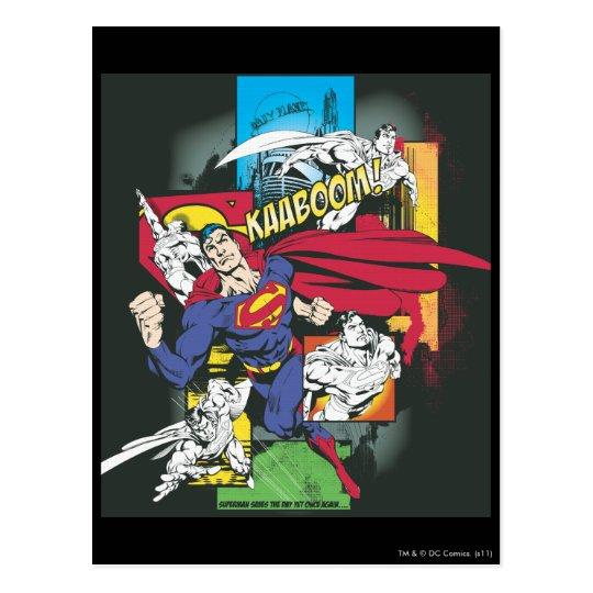 Superman Comic Black Postcard