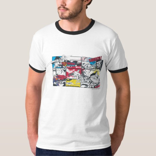 Superman Comic Book Collage T-Shirt