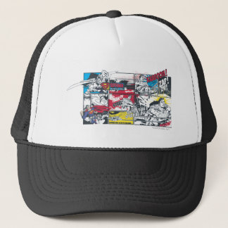 Superman Comic Book Collage Trucker Hat