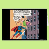 Superman Comic Panel - Accident-Prone Lois Card