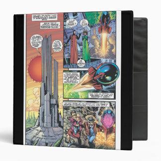 Superman Comic Panel - Clark's Origins 3 Ring Binder