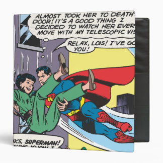 Superman Comic Panel - Lois An Instant Later 3 Ring Binder