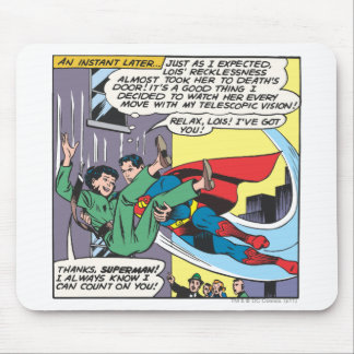Superman Comic Panel - Lois An Instant Later Mouse Pad