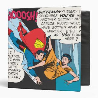 Superman Comic Panel - Lois Plunges Binder