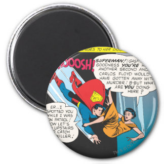 Superman Comic Panel - Lois Plunges Magnet