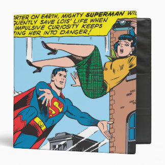 Superman Comic Panel - Saving Lois 3 Ring Binder