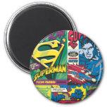 Superman Comic Panels 2 Inch Round Magnet