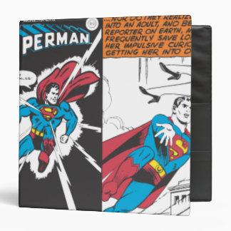 Superman Comic Panels 3 Ring Binder