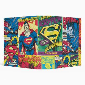 Superman Comic Panels Vinyl Binders