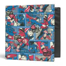 Superman Comic Pattern 3 Ring Binder