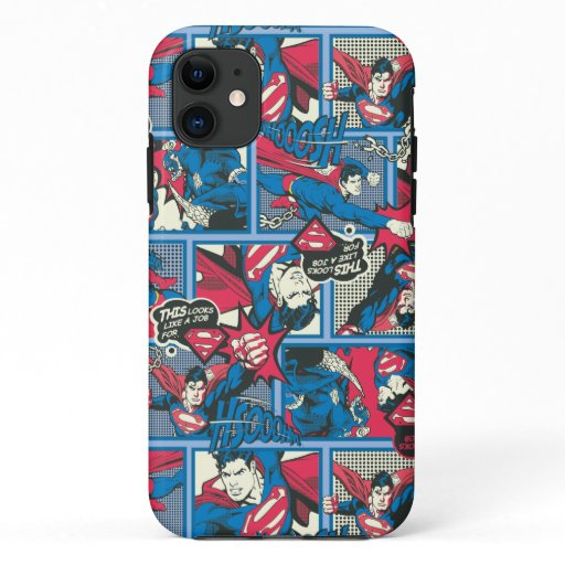Superman Comic Pattern iPhone 11 Case