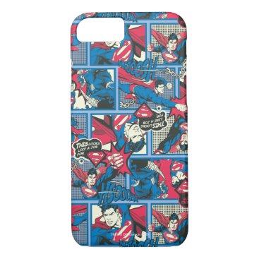 Superman Comic Pattern iPhone 8/7 Case