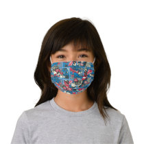 Superman Comic Pattern Kids' Cloth Face Mask