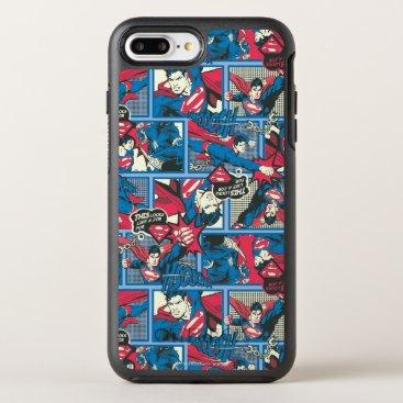 Superman Comic Pattern OtterBox Symmetry iPhone 8 Plus/7 Plus Case