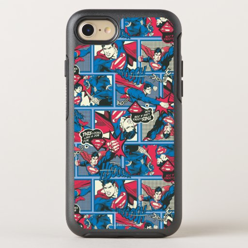 Superman Comic Pattern OtterBox Symmetry iPhone SE/8/7 Case