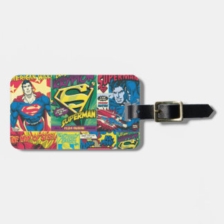 Superman Comic Strip Tag For Bags
