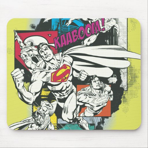 Superman Comic Yellow Mouse Pad
