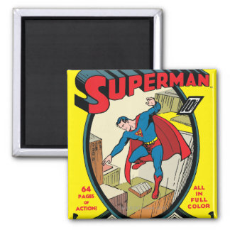 Superman (Complete Story) 2 Inch Square Magnet