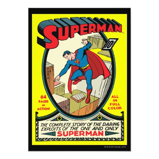 Superman (Complete Story) 5x7 Paper Invitation Card