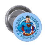 Superman Courage Strength Power 2 Inch Round Button