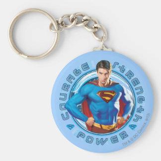 Superman Courage Strength Power Keychain