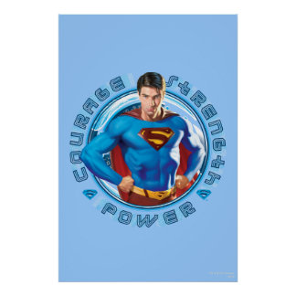 Superman Courage Strength Power Poster