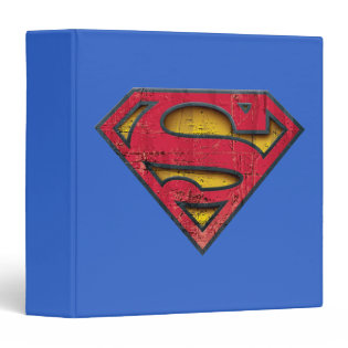 Superman Distressed Logo 3 Ring Binder