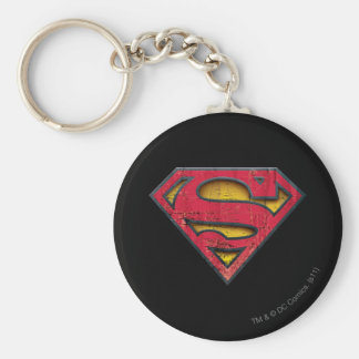 Superman Distressed Logo Keychains