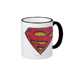 Superman Distressed Logo Ringer Coffee Mug