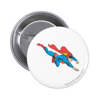 Superman Dives Right Pinback Button