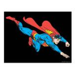 Superman Dives Right Postcard