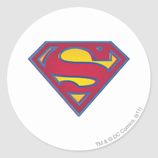 Superman dot logo classic round sticker