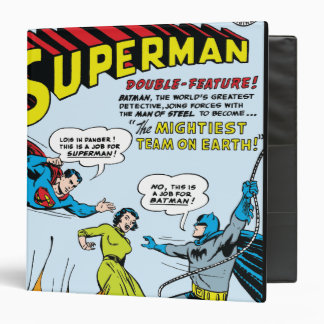 Superman (Double-Feature with Batman) 3 Ring Binder