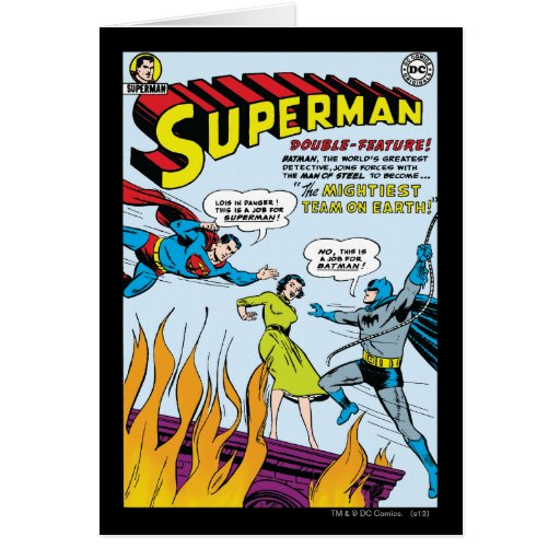 Superman (Double-Feature with Batman) Greeting Cards